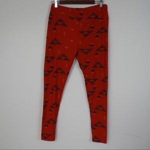 Y153 LulaRoe T&C Red Legging